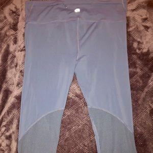 Gap blue athletic capris w/ meshing on legs
